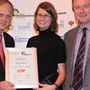 Highly commended - Report Award: (l-r) Stephen Tetlow (IMechE), Jane Patterson (Ricardo), Greg Archer (LowCVP)