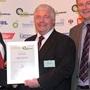 Heavy Duty Vehicle Award - Highly Commended: (l-r) Ray Cattley (Volvo), Ray Engley (RHA), Greg Archer (LowCVP)