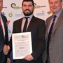 Fuel Initiative Award - Highly Commended: (l-r) Darren Lindsey (Michelin), Patrick Lynch (Greenergy), Greg Archer (LowCVP)