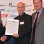 Transport Initiative Award - Runner-Up: (l-r) Sophie Allain (Campaign for Better Transport), Ben Lane (Next Green Car), Greg Archer (LowCVP)