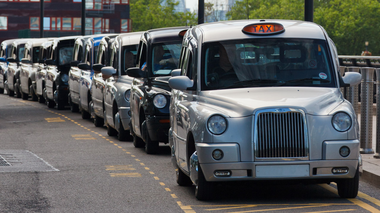 Taxis in a row