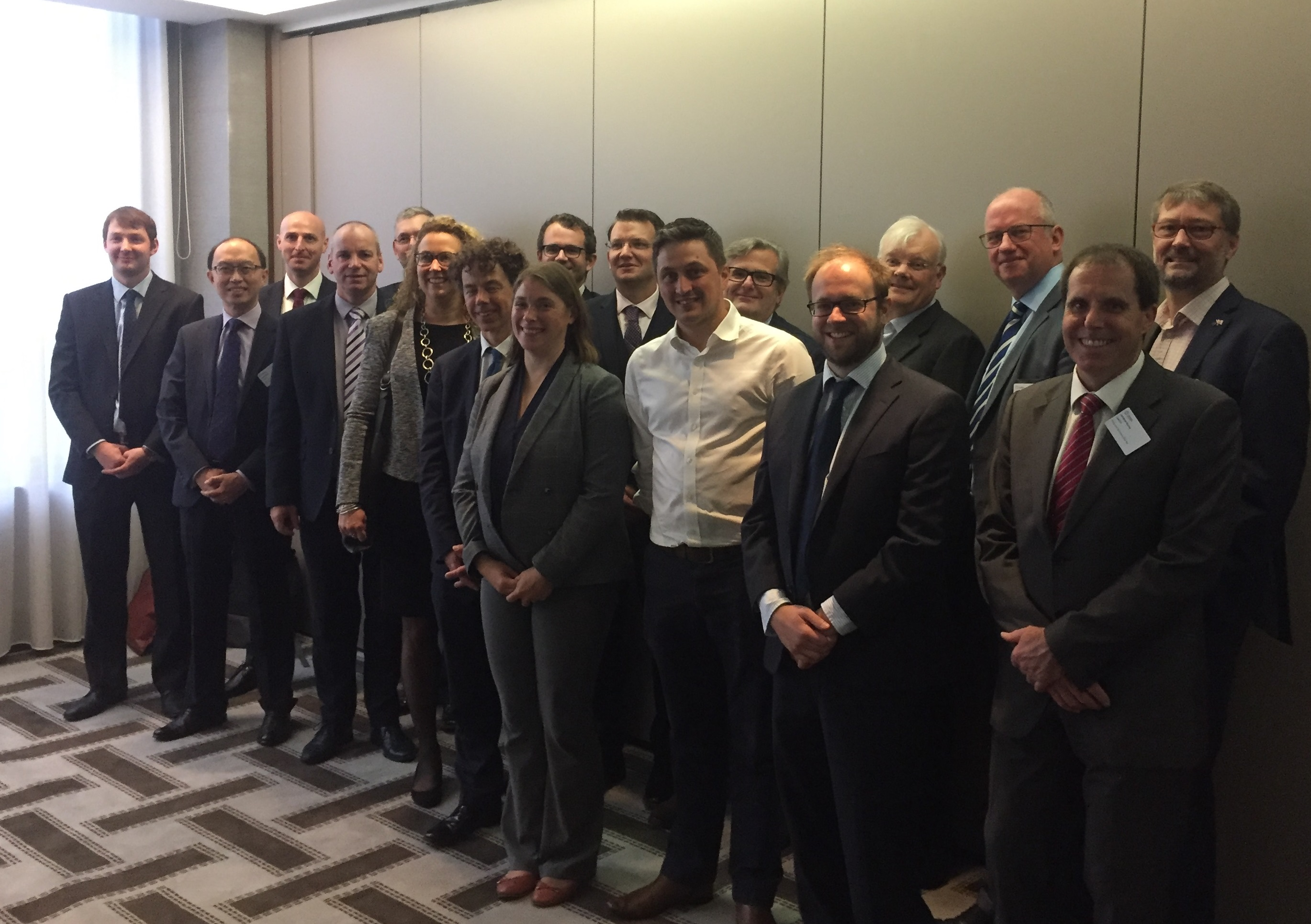 The Steering Group at the public launch meeting, ZEV Summit, Birmingham 11th Sept 2018