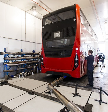 Bus retrofit system being tested at Millbrook
