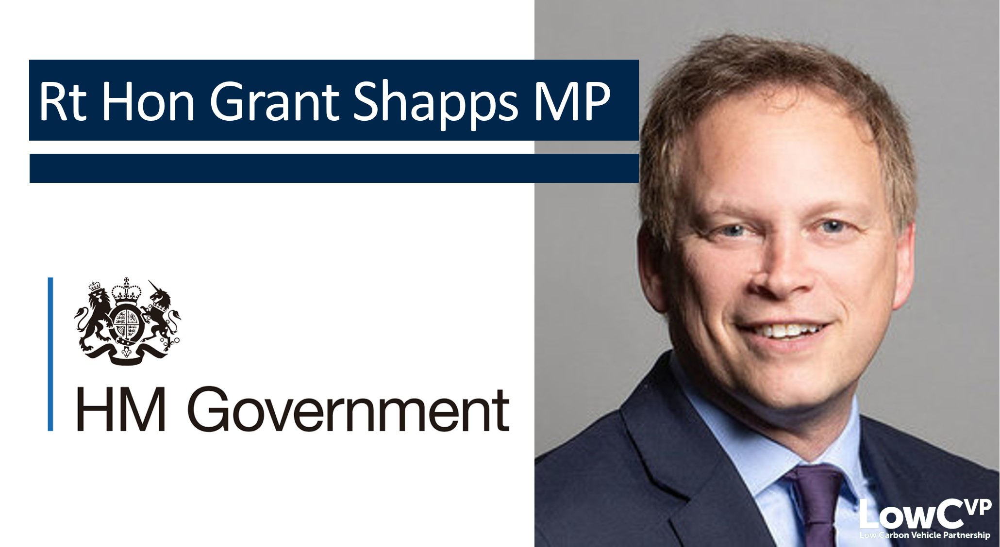 Rt Hon. Grant Shapps, MP - Secretary of State for Transport