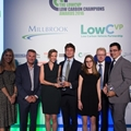 2016 Outstanding Low Carbon Publication or Report - Cambridge Econometrics & Element Energy. L-R Nicki Shields, Jon Hilton - Pres, IMechE (sponsors), Celinze Cluzel, Alastair Hope-Morley, Elise Ravoire - Element Energy and Phil Summerton - Cambridge Econometrics