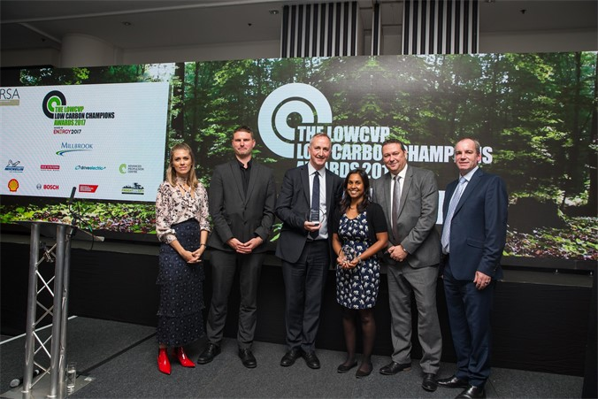 TfL and Go-Ahead London accepting their award