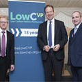 LowCVP Chair Darran Messem, Transport minister Jesse Norman and Andy Eastlake, MD.