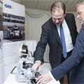 Transport minster Jesse Norman at the GKN Exhbit