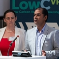 Lorna McAtear and Jay Parmar from Royal Mail and BVRLA
