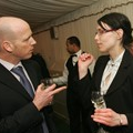 John Lippe of Ford Motor Co in discussion with DEFRA's Gosia Golebiewska