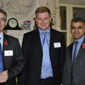 SMMT CEO Paul Everitt (l), LowCVP MD Greg Archer (c) & Minister Sadiq Khan (r)