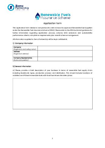 RFAS Application Form